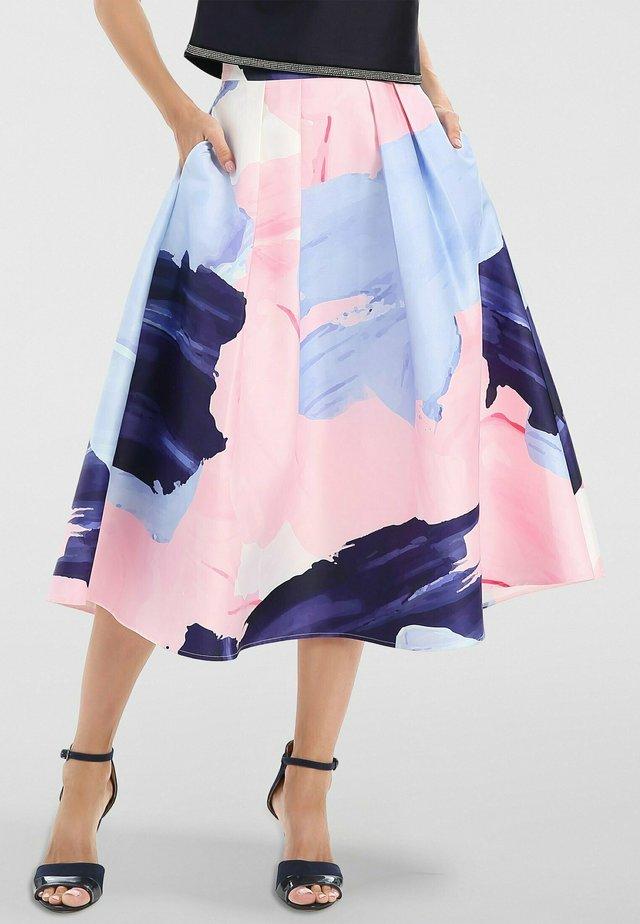 Jupe trapèze - nachtblau-multicolor