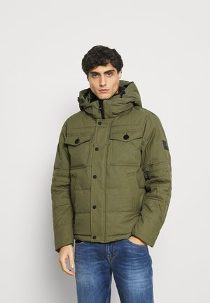 REMOVABLE HOODED BOMBER - Winter jacket - green
