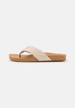 CUSHION STRAND - T-bar sandals - vintage