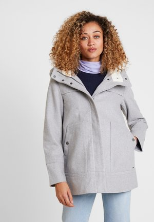 SHORT COAT - Short coat - light silver grey mélange