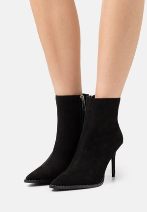 AMORE DIAMANTE RAND STRETCH BOOT - Classic ankle boots - black