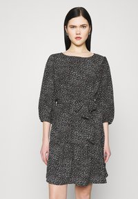 JDY - JDYPIPER 3/4 PUFF DRESS - Kjole - black - 0