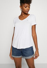 Hollister Co. - EASY BASIC 3 PACK - Basic T-shirt - white/black/burg - 2