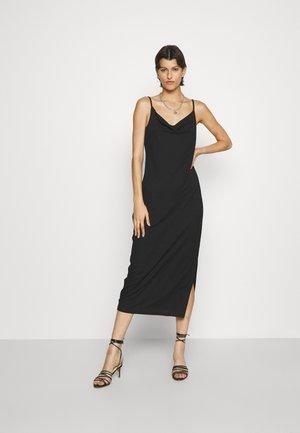 ONLMONNA SLIT DRESS - Jersey dress - black