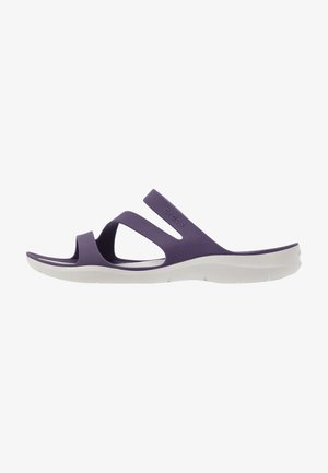 SWIFTWATER - Badslippers - mulberry/pearl white