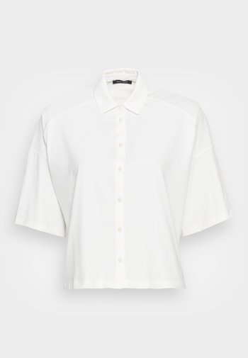 JERSEY BLOUSE  SMALL STAND UP COLLAR BUTTON CLOSURE - Overhemdblouse - white