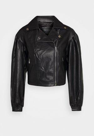 DARYL JACKET - Faux leather jacket - jet black