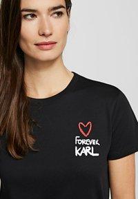 KARL LAGERFELD - FOREVER KARL - Print T-shirt - black - 4