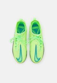 Nike Performance - JR PHANTOM GT ACADEMY DYNAMIC FIT MG UNISEX - Moulded stud football boots - lime glow/aquamarine - 3