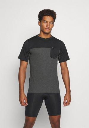 VECTRA - Print T-shirt - castlerock/black