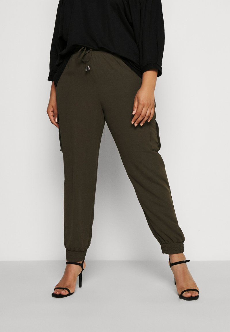 Dorothy Perkins Curve - UTILITY JOGGER - Cargo trousers - khaki