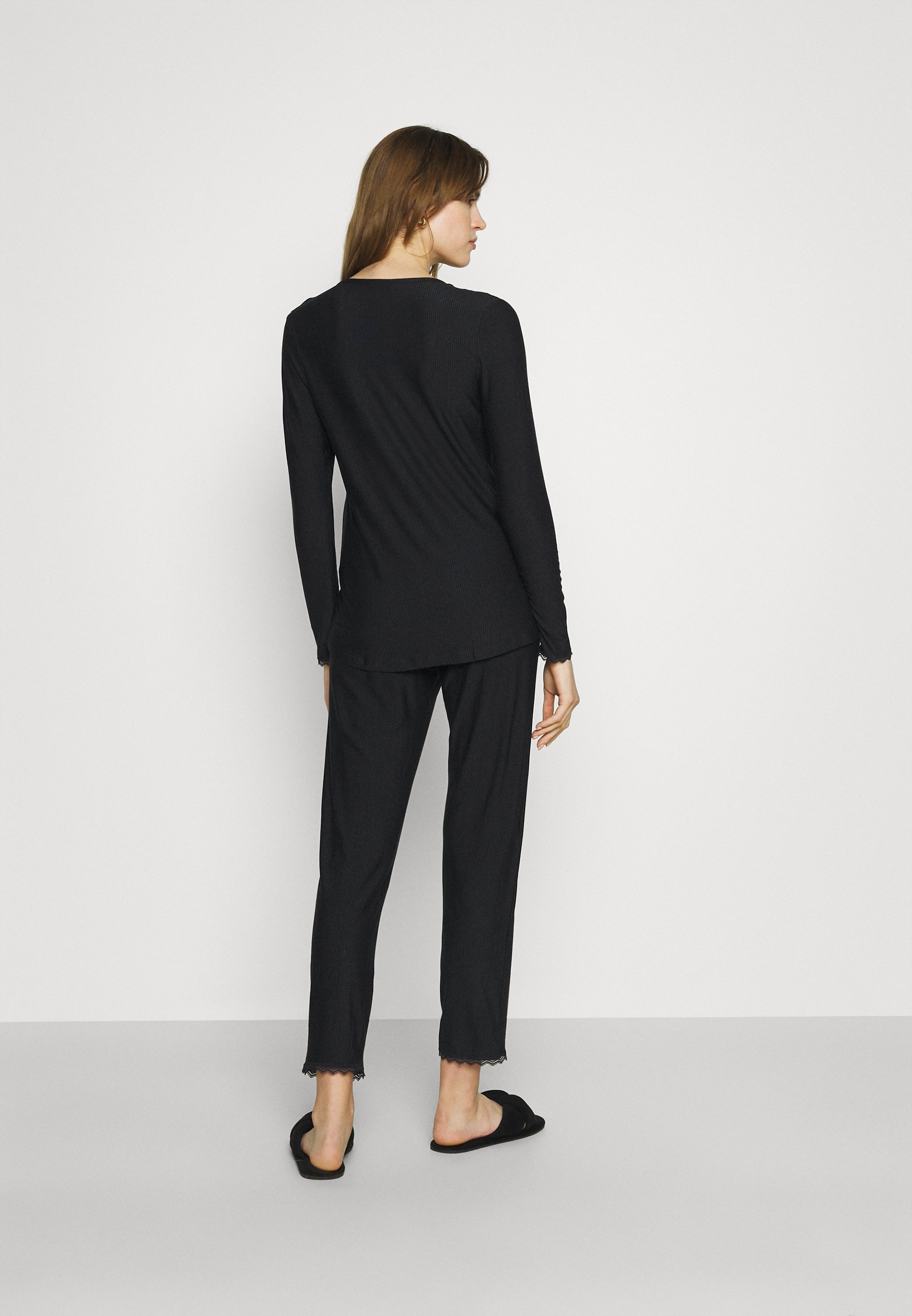 Damen SOFT STRIPES LONGSLEEVE LONG PANTS - Pyjama