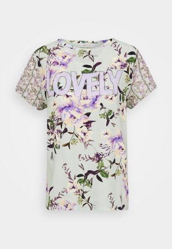 LOVELY WITH FLOWER PRINT - Blouse - jade mint