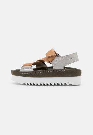 RANGER - Platform sandals - silver