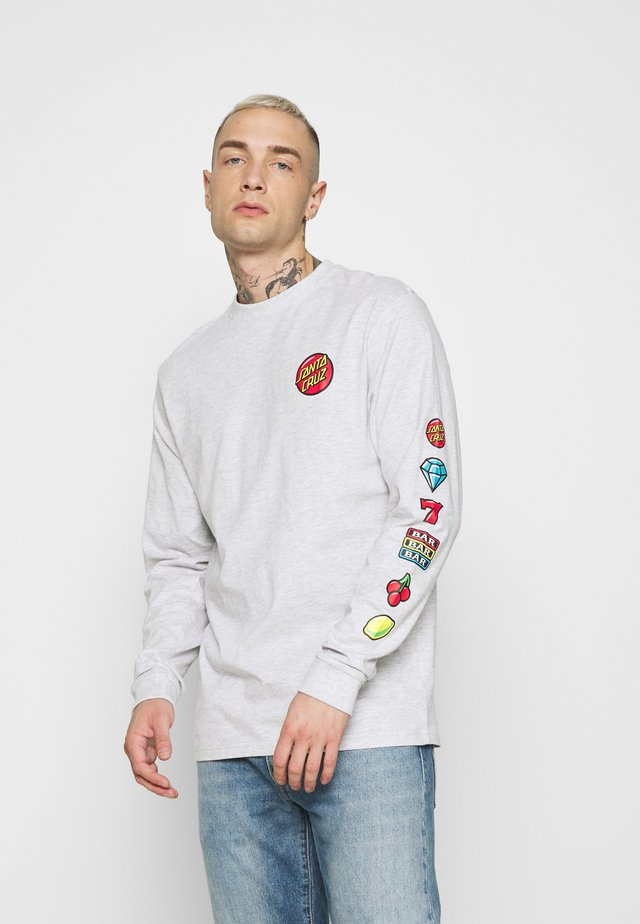 JACKPOT LONG SLEEVE UNISEX - Long sleeved top - athletic heather