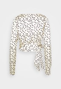 Glamorous - DRAPE WRAP WITH LONG SLEEVES PLUNGING NECKLINE - Blouse - polka - 1