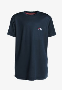 Fila - LOGO - Basic T-shirt -  peacoat blue - 0