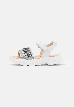 Sandals - white/silver