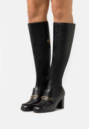 FRINGE BOOT - Vysoká obuv - black