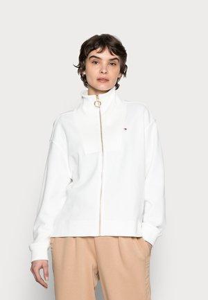 RELAXED ZIP-THROUGH SWEATSHIRT - Felpa con zip - white
