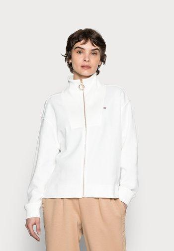 RELAXED ZIP-THROUGH SWEATSHIRT - Zip-up sweatshirt - white