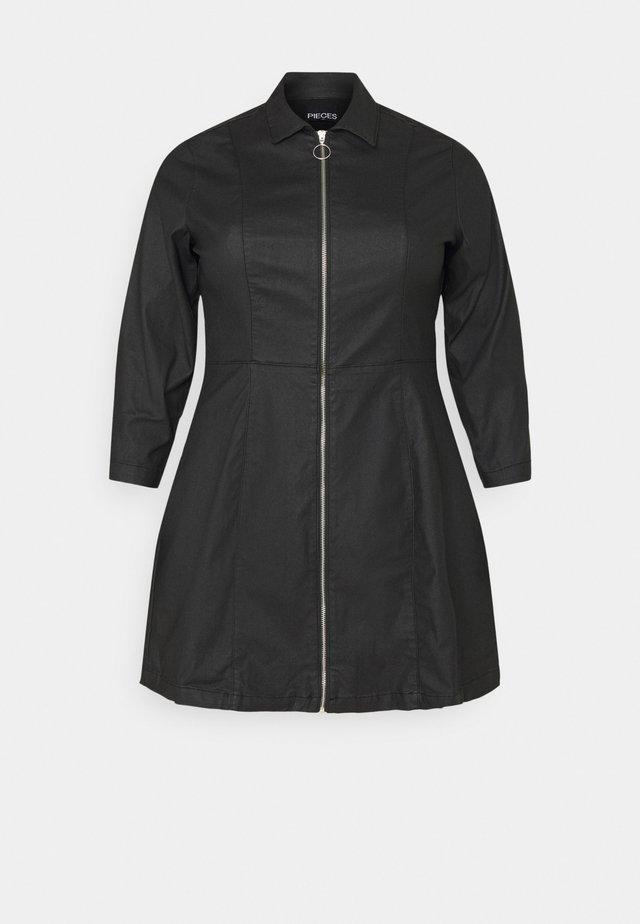 PCROXY ZIP COATED DRESS - Vestido informal - black