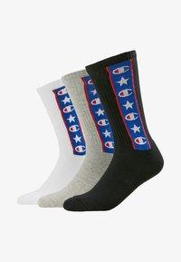Champion - JAPAN TAPE CREW 3 PACK - Sports socks - black/white/grey - 1