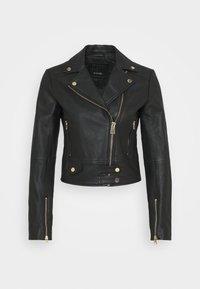 Pinko - SENSIBILE CHIODO - Leather jacket - black - 7