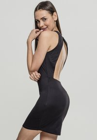 Urban Classics - BACK CUT OUT DRESS - Day dress - black - 2