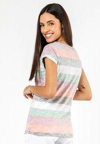 Sublevel - Print T-shirt - orange - 2