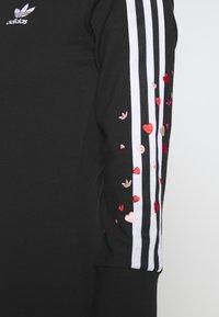 adidas Originals - 3STRIPES 3/4 SLEEVE DRESS - Vestido ligero - black - 5