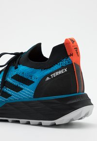 adidas Performance - TERREX TWO PARLEY - Trail running shoes - shadow blue/core black/true orange - 5