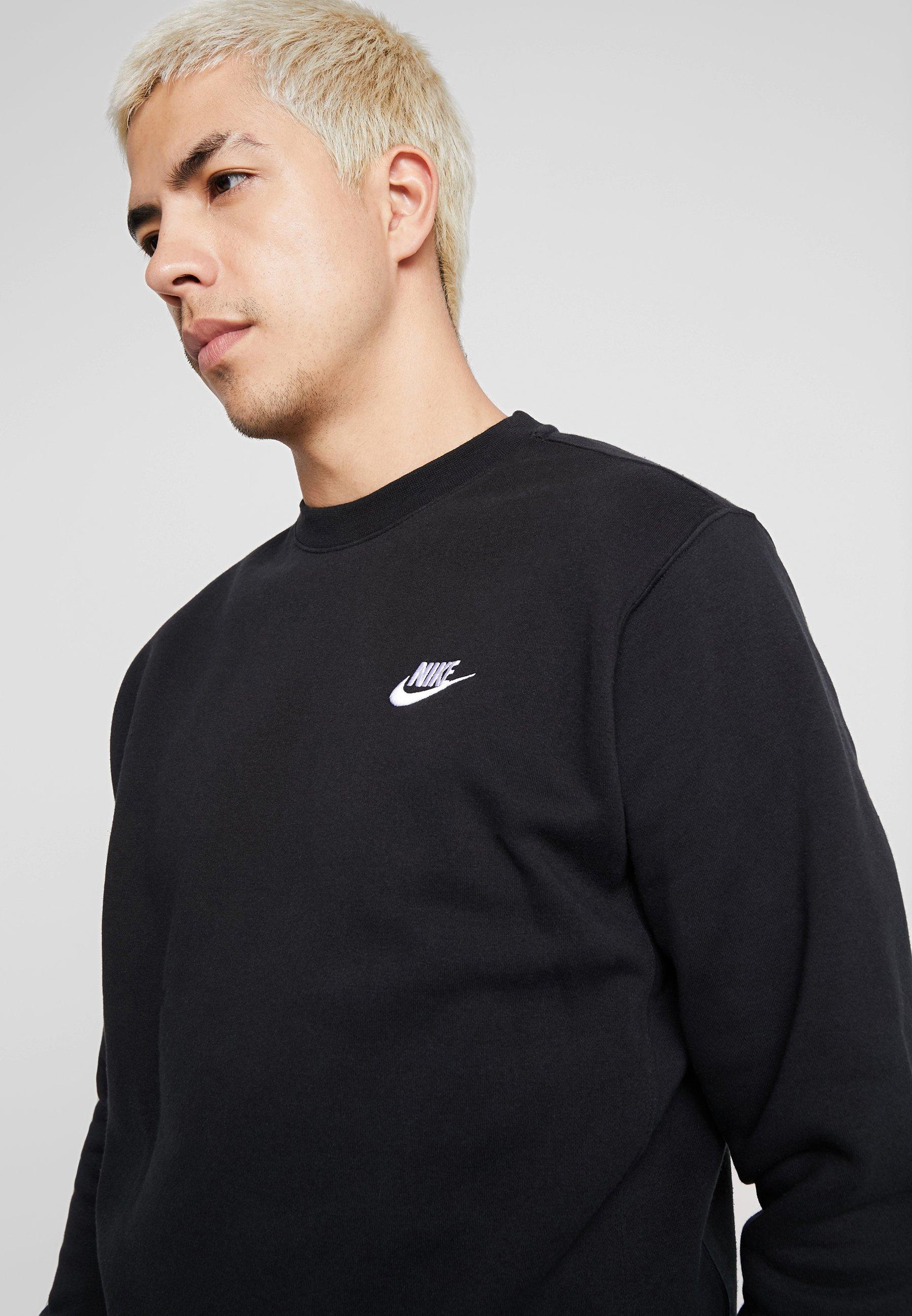 Nike Sportswear Club - Sweatshirt Black/white/svart