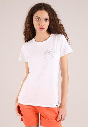LOVER'S EYES - Print T-shirt - white