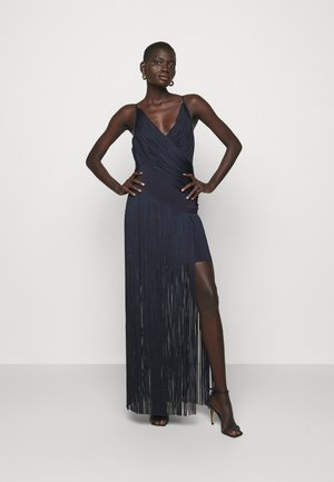 DRAPED FRINGE DEEP GOWN - Occasion wear - dark navy