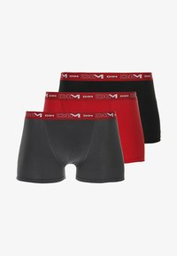 DIM - 3 PACK - Pants - gris plomb/rouge chilli/noir - 5