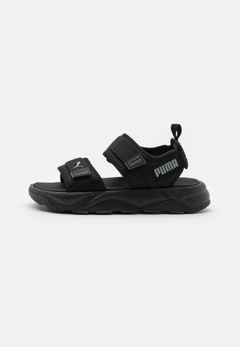 UNISEX - Walking sandals - black/high rise