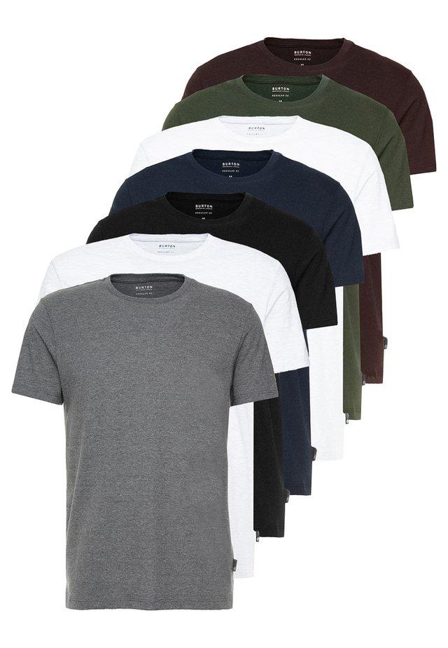 BASIC CREW 7 PACK - Camiseta básica - multi colour