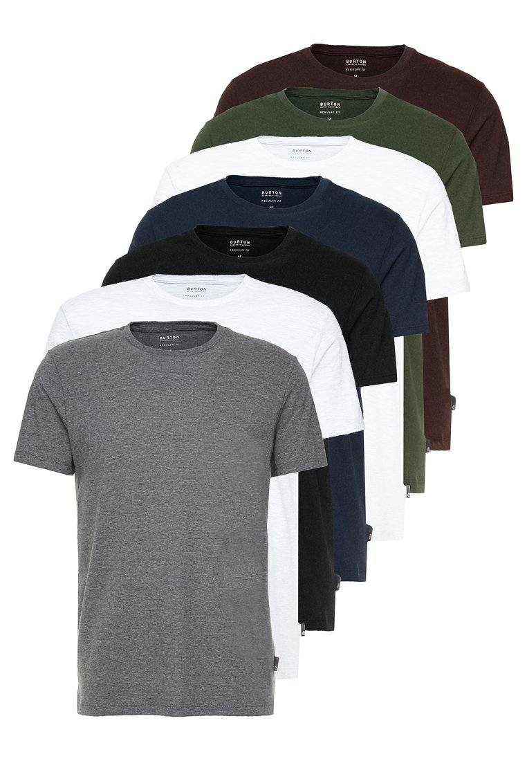 Burton Menswear London - BASIC CREW 7 PACK - Camiseta básica - multi colour