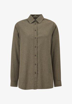 Button-down blouse - green melange