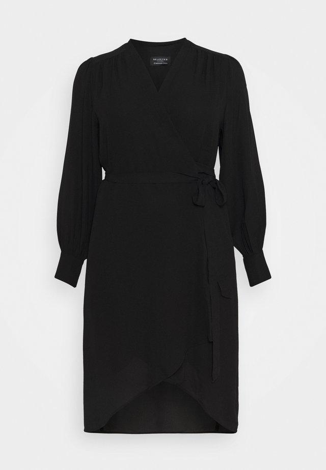 SLFLAVA WRAP DRESS  - Kjole - black