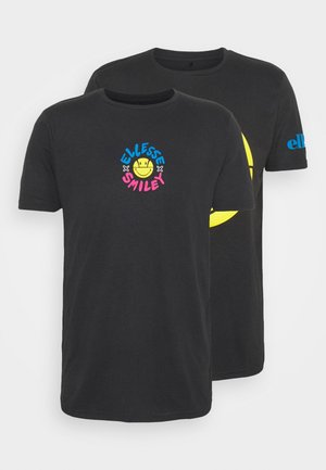 PLEASURO TEE 2 PACK - Print T-shirt - dark grey