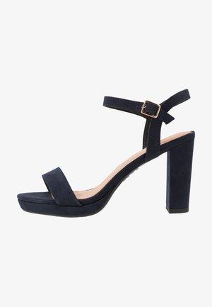 QUEEN - Sandaler med høye hæler - navy