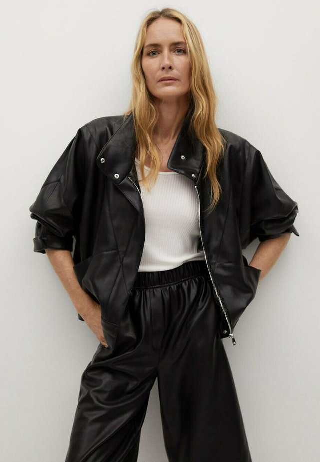 SOUL - Faux leather jacket - schwarz