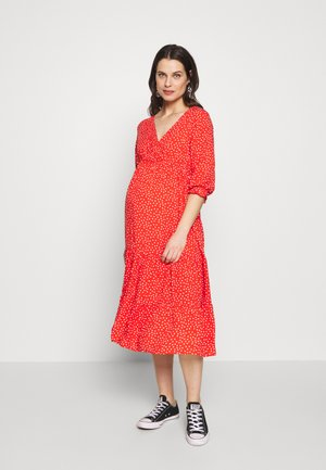 TIERRED DRESS - Sukienka letnia - red