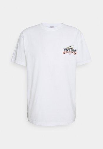 DIAMOND BACK LOGO TEE UNISEX - T-shirt med print - white