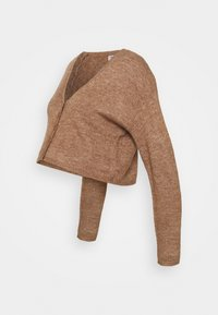 Cotton On - MATERNITY FRIENDLY CROP MATCH BACK CARDI - Cardigan - cocoa bean marle - 3