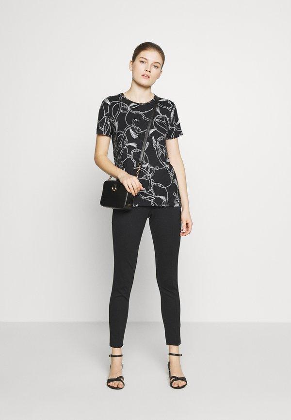 Lauren Ralph Lauren T-shirt z nadrukiem - black Nadruk Odzież Damska KUQO JP 2