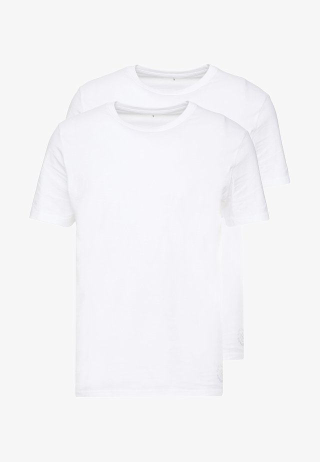 DOUBLE PACK CREW NECK TEE - T-shirt basic - white