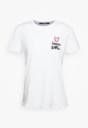 FOREVER - T-shirt z nadrukiem - white